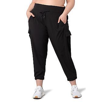 Women's Plus Size Cargo Woven Trouser Pant