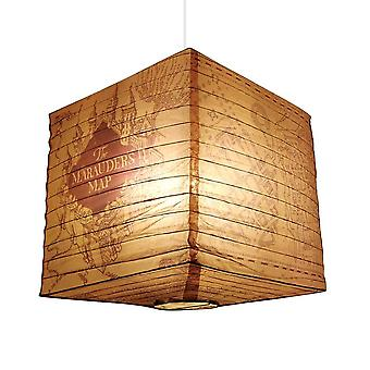 Harry Potter Marauder's Map Cube Paper Light Shade