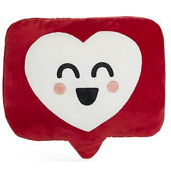 kissen Mr. Wonderful 39 x 30 cm Polyester weiß/rot