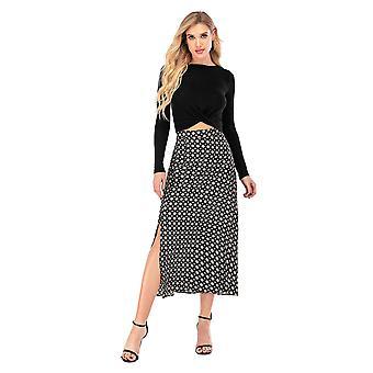 Calison Women's Polka Dot Maxi Skirt