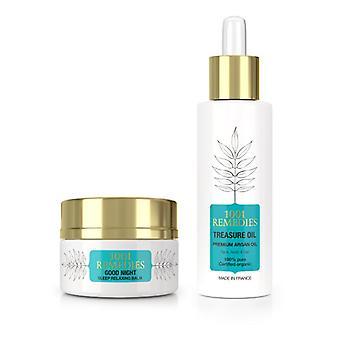 Bath spa gift set - argan oil moisturiser & sleep aid for anxiety, 100% natural & vegan, made in france