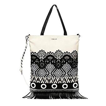 Desigual Bols_Black White Chorus - Kvinners Crossbody Bag, farge: Hvit