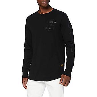 G-STAR RAW Logo Grafisk T-Shirt, Dk Svart B353-6484, X-Small Men