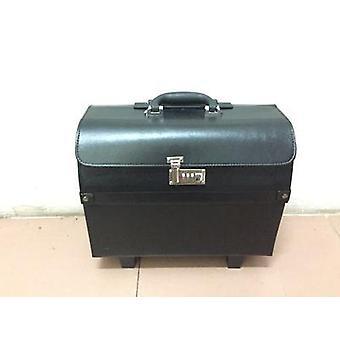 عجلات حقيبة الأمتعة الجلدية المتداول 18 بوصة