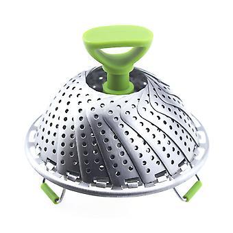YANGFAN Adjustable Vegetable Steamer Basket Stainless Steel Folding Steamer Basket