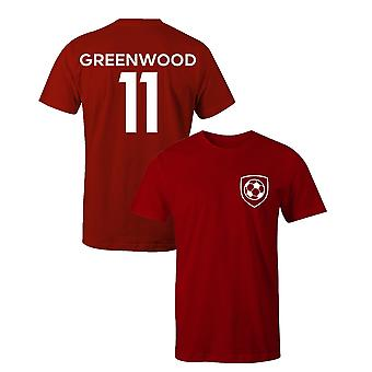 Mason greenwood 11 club stijl kinderen speler voetbal t-shirt