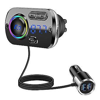 Qc3.0 / 2.4a Dual Usb Fast Charging Bluetooth Fm Car Transmitter