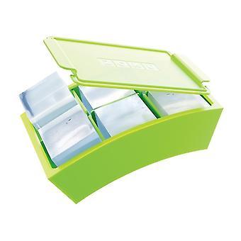 ZOKU Jumbo Výrobca kocky ľadu - Silikón bezpečný pre potraviny robí 12 dokonalých štvorcových kociek ľadu