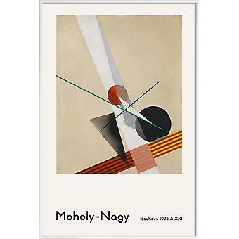 JUNIQE Print - László Moholy-Nagy - A XXI - László Moholy-Nagy poster en brun & blanc crème