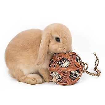 Rabbit Hamster Bite Molar Toy Straw Hanging Grass Ball Foraging