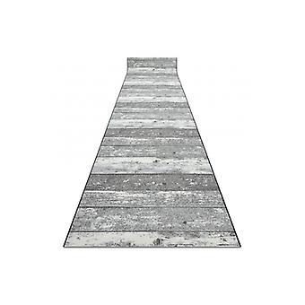 Runner anti-slip 120 cm Wood planks grey