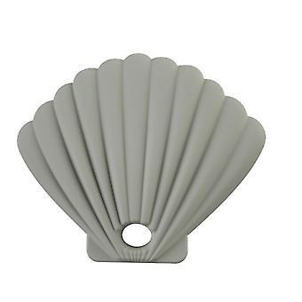 3Pcs gray shell shape silicone mask storage box, dustproof and waterproof for repeated use az17428