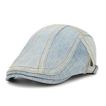 נשטף כותנה שחוקה ג'ינס שטוח כובע ארבע עונות כומתה יוניסקס