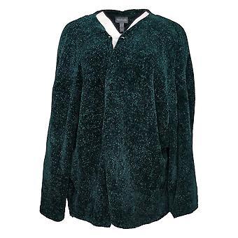 Chiunque maglione da donna più chenille ritagliato Cardigan Verde A345313