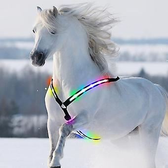 Led Horse Breastplate Collar Usb Rechargeable High Visibility Tack