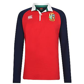 Canterbury Herre BIL Langærmet Collared Neck Jersey Shirt Broderet Logo Top