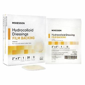 McKesson Hydrocolloid Dressing 2 X 2 Inch Sterile, Light Beige 1 Each