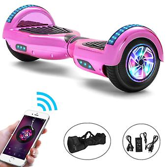 """Stuff Certified® Electric E-Scooter Hoverboard with Bluetooth Speaker - 6.5"""" - 500W - 2000mAh Battery - Balance Hover Board Pink"""