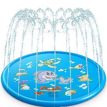 100Cm kültéri felfújható víz splash játék medence játék sprinkler szőnyeg udvar családi vicces gyerekek játékok