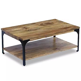 vidaXL table basse bois de mangue 100x60x38 cm
