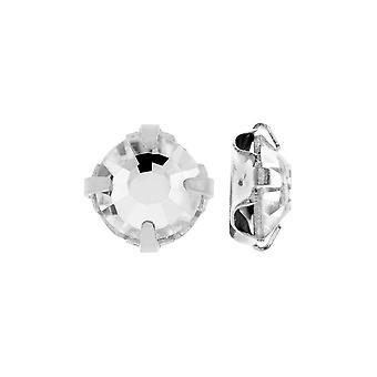 Preciosa Rose Montee Beads, Tšekin tekojalokivet cup-asetuksissa SS20, 24 Kpl, Kristalli hopeapinnoitukseen