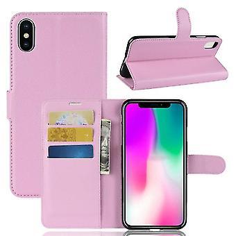 Samsung Galaxy A20 Stoßfeste Brieftasche Folio Ledertasche - rosa