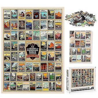 Skladačky skladačky 62 puzzle s logom národného parku 1000 kusov edukačnej dekompresie puzzle dekorácie steny darček #4779