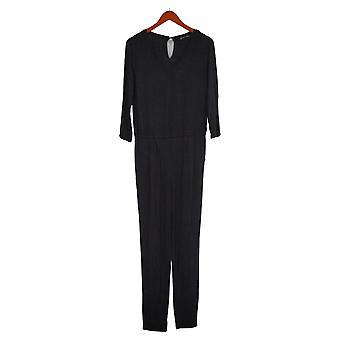 Colleen Lopez Jumpsuits Easy V-Neck Uit één stuk Zwart 731991