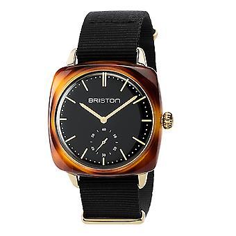 Briston 17440.PYA.TV.1.NB Clubmaster Classic Acetate Wristwatch Black Nato