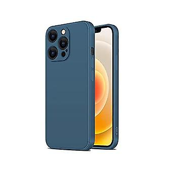 Shockproof Liquid Silicone Phone Case Compatible With Iphone 13 Pro Max ( Navy Blue)