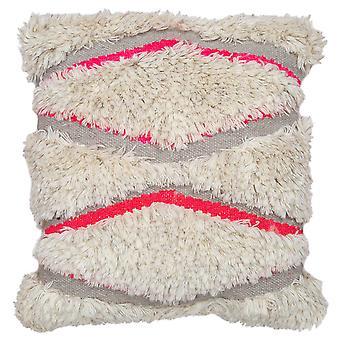 Spura Home Aries Beige Shaggy Style Modern 18x18 Pillow Cushion