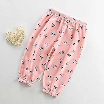 Kids Pink Capris Pants With Elastic Band