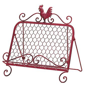 Accent Plus Iron Rooster Cookbook or Tablet Stand, Pack of 1