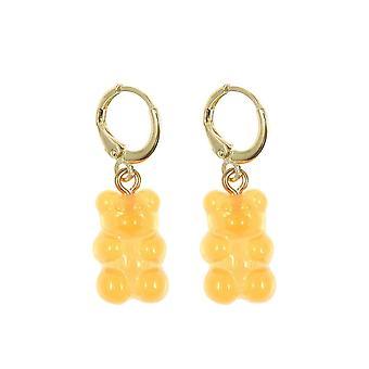 Gemshine Ohrringe 925 Silber vergoldet Gummibärchen in orange - Made in Spain