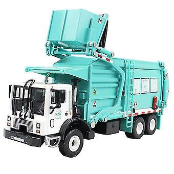 Alloy Barreled Garbage Carrier Truck 1:24(green)
