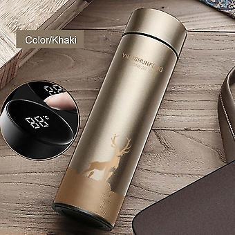 500ml Led Temperatur Display Thermos Edelstahl Becher Wasserflasche Touchscreen intelligente Messung Doppel Vakuum Flasche Tasse Geschenk