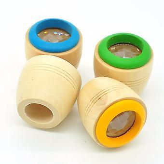 1buc din lemn bee eye cu Magic Caleidoscop Puzzle Explorare Jucării (livrare aleatoare O pereche)