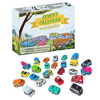 הרפתקאות לוח שנה ילדים-חג המולד 24 ימים ספירה לאחור לוח שנה-הרפתקאות מכוניות ערכת בצע בצע בצעונים מכיל מתנה לרכב אש לילדים