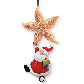 Zeester en grillige Santa Holiday Christmas Ornament