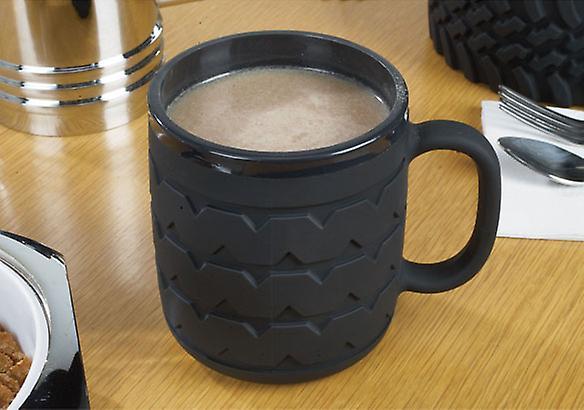 Wrenchware Car Wheel and Tyre Mug - Black Wall