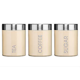 Premier Housewares Tee, Kaffee & Zucker Kanister, Creme