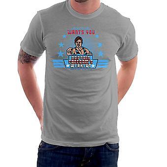 Captain Freedoms Workout Running Man Men's T-Shirt
