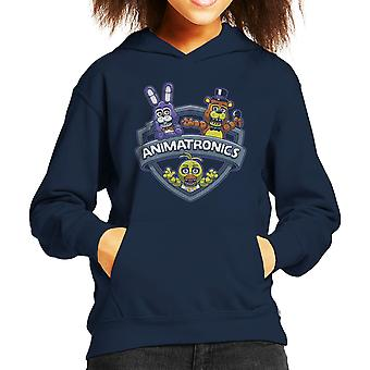 Animatronics Maniacs One Night At Freddys Kid's Hooded Sweatshirt