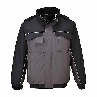 Portwest - RS Uniform Workwear Durable Padded Bomber Jacket With Pack Away Hood
