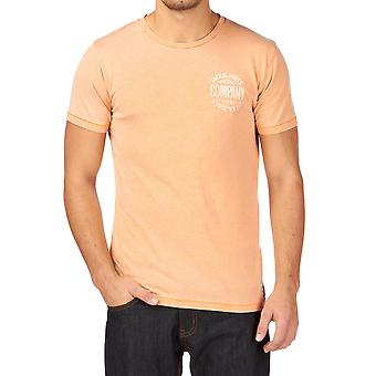 Jack und Jones Burn T-Shirt O-Neck gelbes T-Shirt