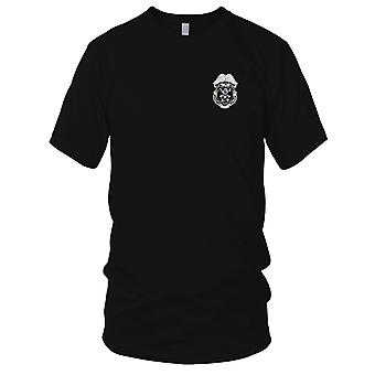 US Army - ARMY-K-9 Military Police Badge Embroidered Patch - Mens T Shirt