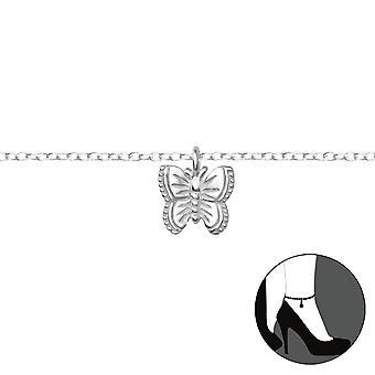 Mariposa - plata de ley 925 para el tobillo - W36047X