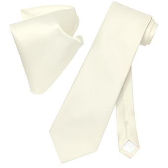 Conjunto de corbata Vesuvio Napoli sólido corbata y pañuelo hombres cuello