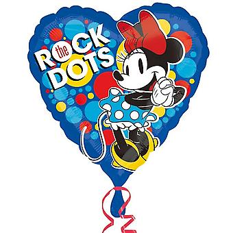 Anagram Disney Minnie Mouse Vintage Heart Shaped Foil Balloon