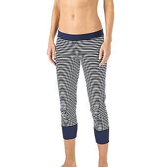 Mey 16821-408 kvinnors Night2Day natt blå färg pyjamas 3/4 längd pyjamas byxa